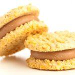galletas integrales de avena rellenas de chocolate