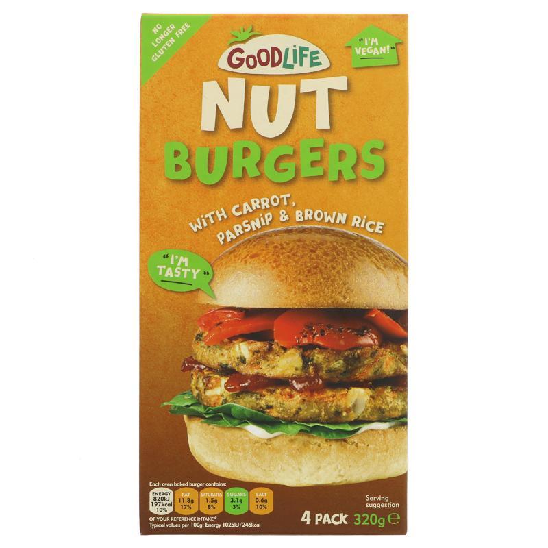 good life burger frutos secos y zanahoria