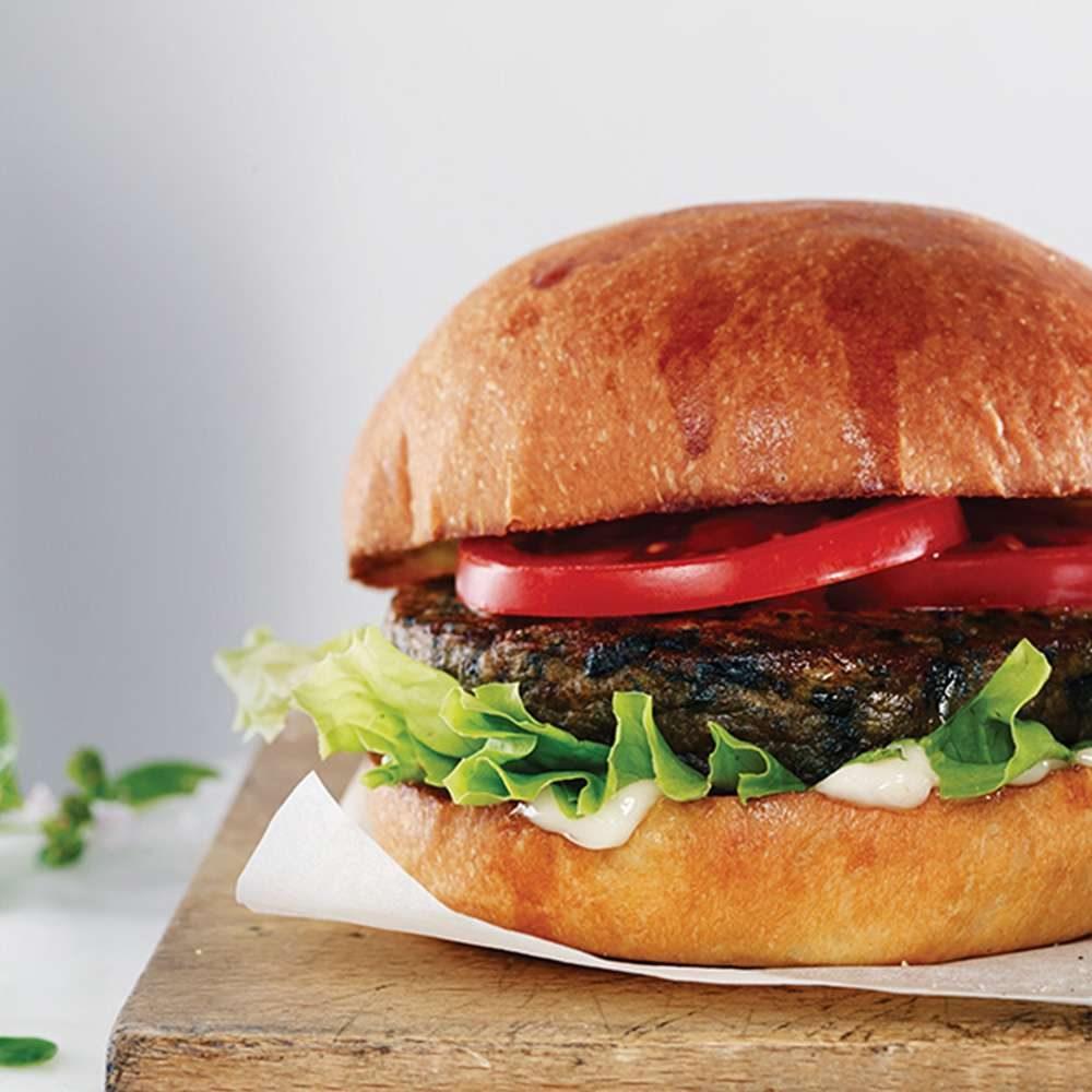 hamburguesa de espinacas