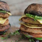 hamburguesa vegana sabor pollo