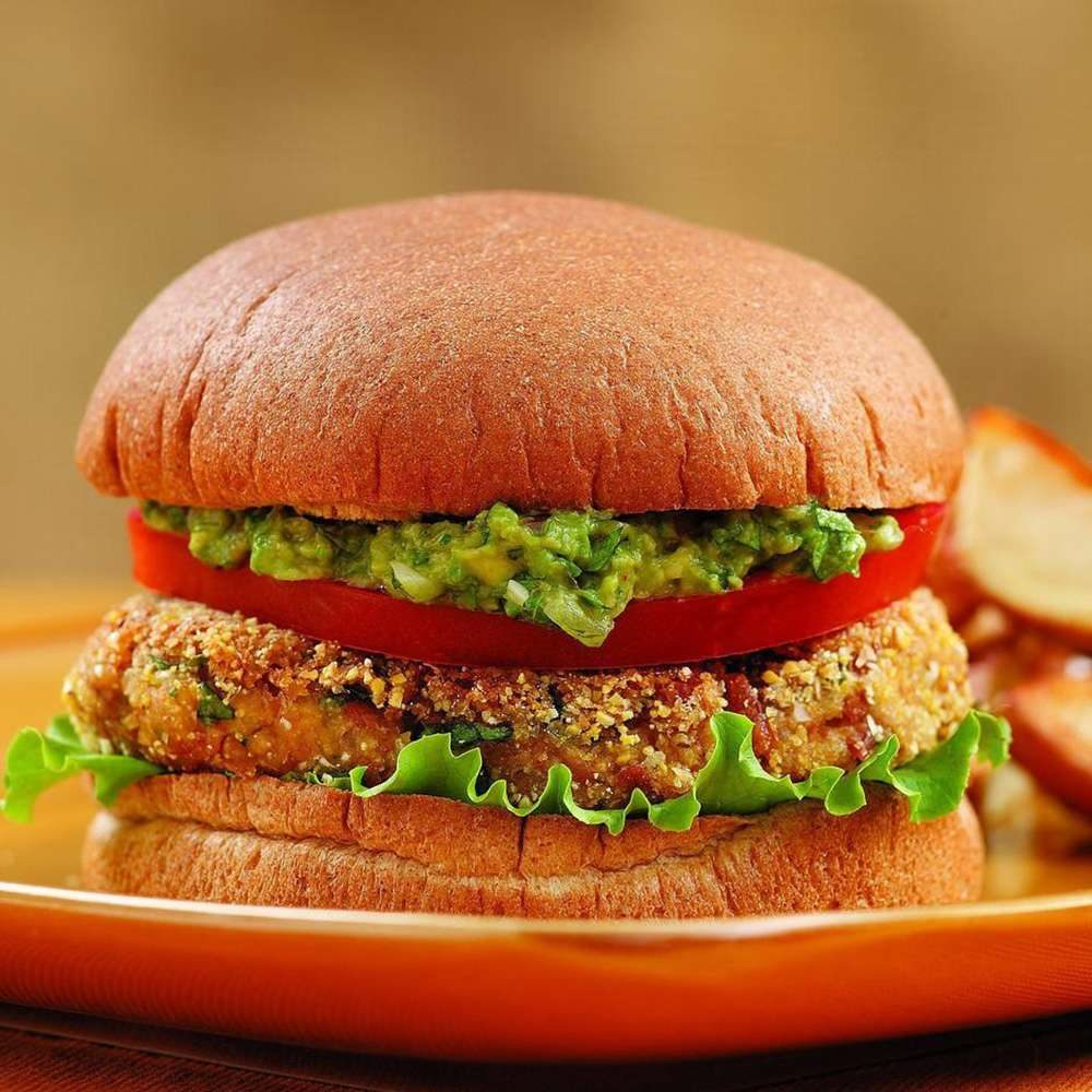 hamburguesa de zanahoria vegana