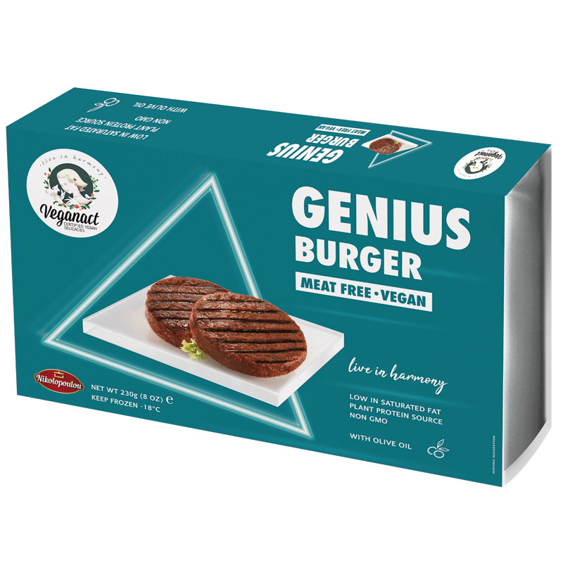 Hamburguesas Veganas Genius 230gr.