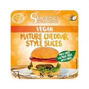 queso vegano en lonchas sabor cheedar