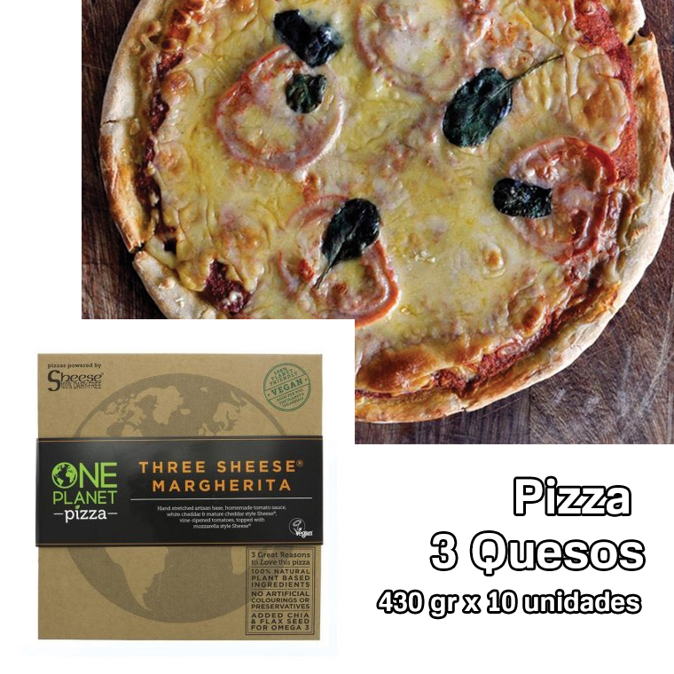 pizza 3 quesos one planet pizza