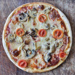 pizza fungi vegana