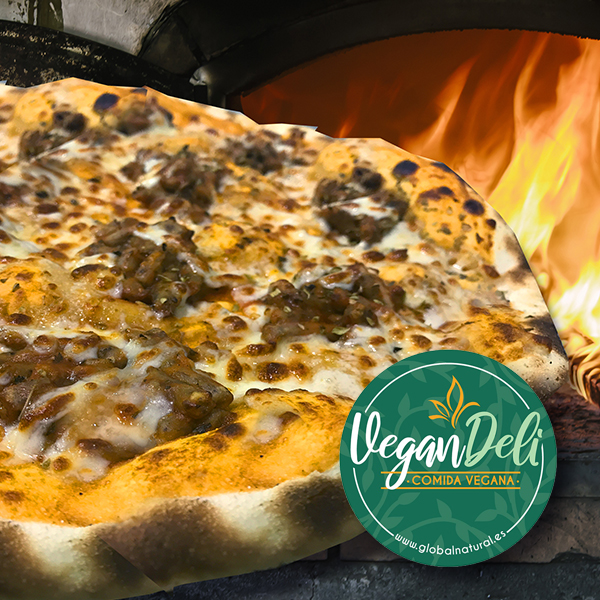 pizza vegana boloñesa