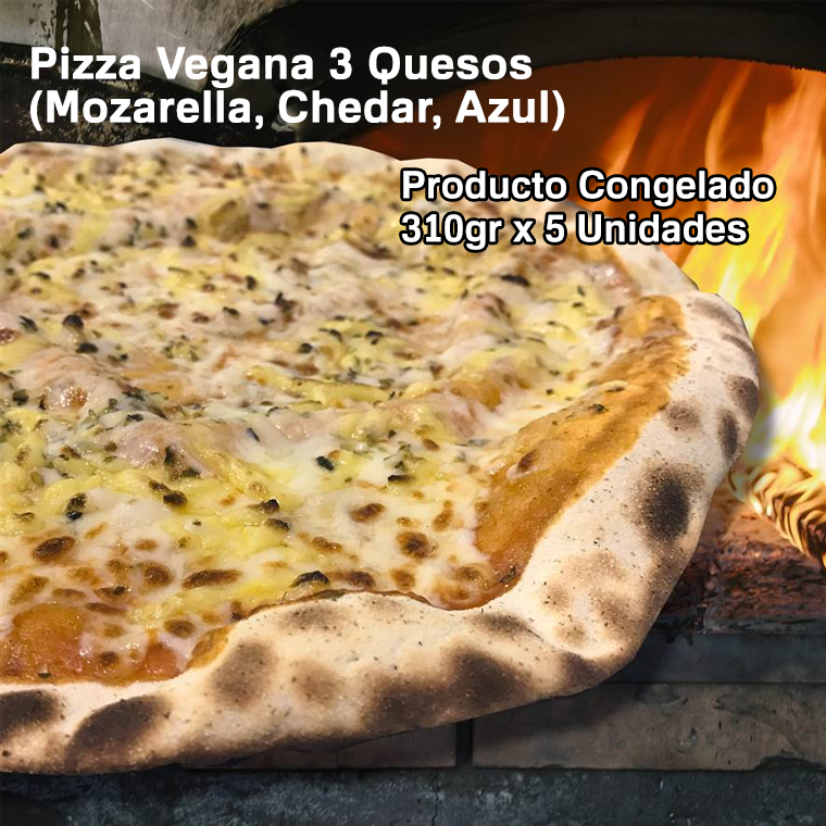 pizza vegana 3 quesos