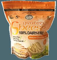 queso vegano sabor cheddar curado