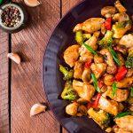 Salteado de verduras wok vegano