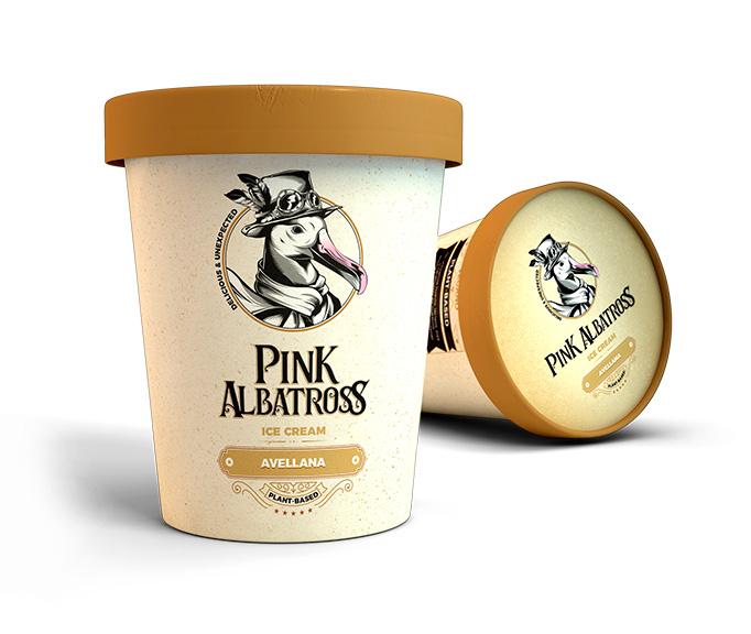 tarrina avellana pink albatross helados veganos