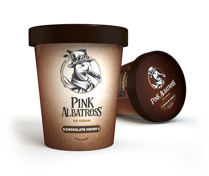 tarrina chocolate negro pink albatross